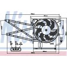 Вентилятор радиатора OPEL VECTRA B (95-) 1.6-2.0 (пр-во Nissens)