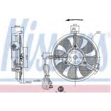 Вентилятор радиатора AUDI; FORD; SEAT; VW (пр-во Nissens)
