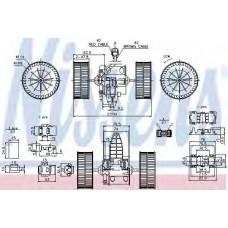 Вентилятор отопителя BMW  5 E60-E61 (03-) (пр-во Nissens)