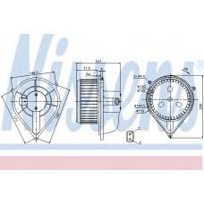 Вентилятор отопителя FIAT  DUCATO (94-)(пр-во Nissens)