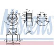 Вентилятор отопителя AUDI  Q7 (4L) (06-), PORSCHE  CAYENNE (02-) (пр-во Nissens)