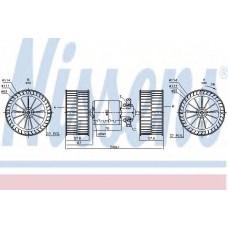 Вентилятор отопителя MERCEDES ACTROS MP1 (96-) OM 541.920/308 9 (пр-во Nissens)