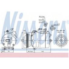 компрессор кондиционера AUDI A6  97- (Nissens)