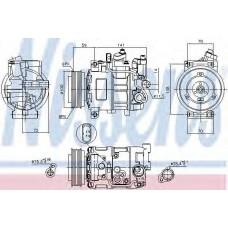 компрессор кондиционера AUDI A4   00- (Nissens)