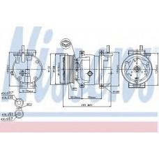 Компрессор кондиционера CHEVROLET  AVEO (T250, T255), LACETTI,NUBIRA (пр-во Nissens)