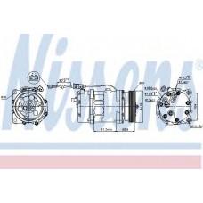 компрессор кондиционера AUDI A3 (96-) INCL ADAPTER (Nissens)
