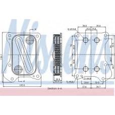 Pадиатор масляный FIAT  DOBLO (119, 223) (01-)  1.3 MJTD (пр-во Nissens)
